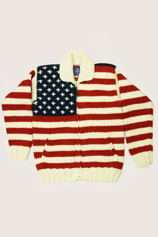 Res Ipsa American Flag Cowichan Sweater