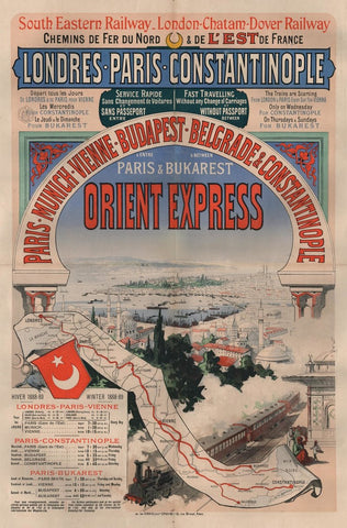 First Orient Express poster by Jules Chéret, 1888 (Photo: Arjan den Boer)