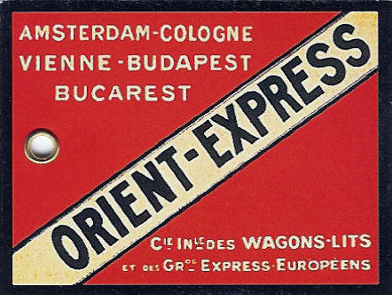 An Orient Express luggage tag. (Photo: Public Domain/WikiCommons)