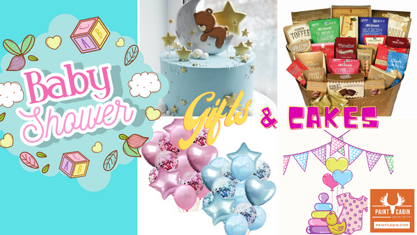 Virtual Baby Shower Gift Baskets & Cakes