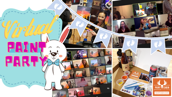 Virtual Baby shower Paint Party @ Paint Cabin
