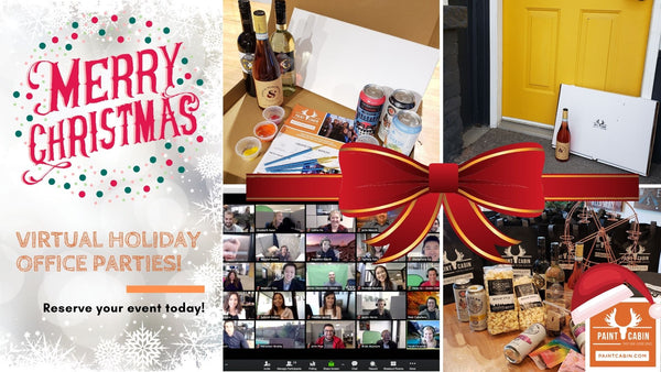 Virtual Holiday Party Ideas & Events @Paint Cabin