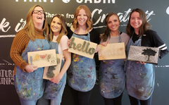 Paint Cabin Bachelorette Idea Toronto