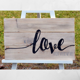 Virtual Valentines - Wood Sign Crafting - Alcohol & Activity Delivered!