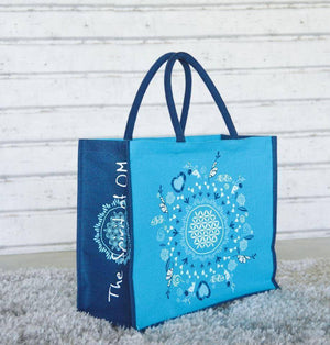 "THE SPIRIT OF OM® Jute Taschen ""Be Happy"""