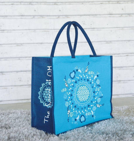 "Image of THE SPIRIT OF OM® Jute Taschen ""Be Happy"""