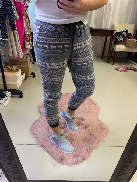 Soft Sweatpants (Printed Charcoal)