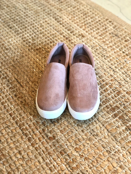 Dark Blush Slip On Shoes
