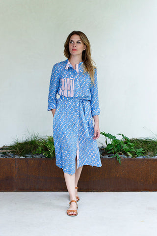 Anna Dress / Egyptian Blue Dot