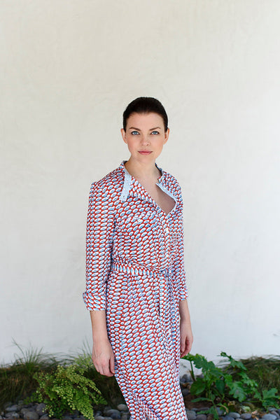 Anna Dress / Red Blue Check