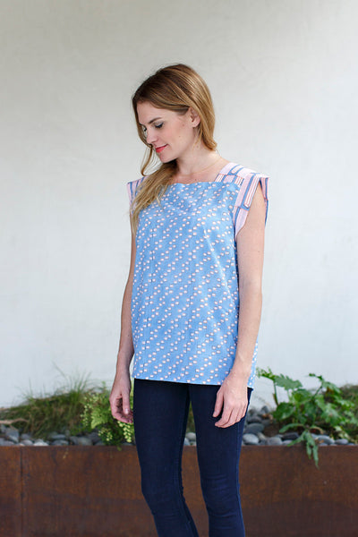 Anya Top / Egyptian Blue Dot