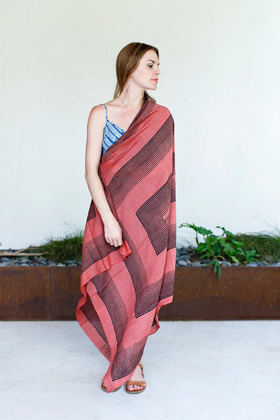 Sienna Red Stripe Scarf