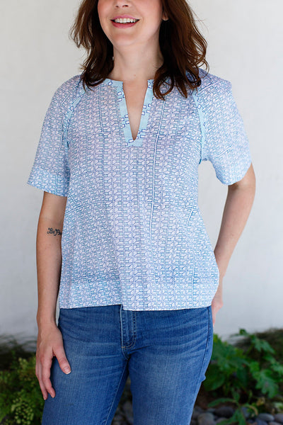 Suri Top / Blue Grid