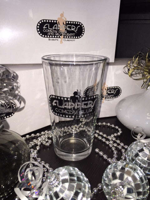 Flappers Glass Beer Pint