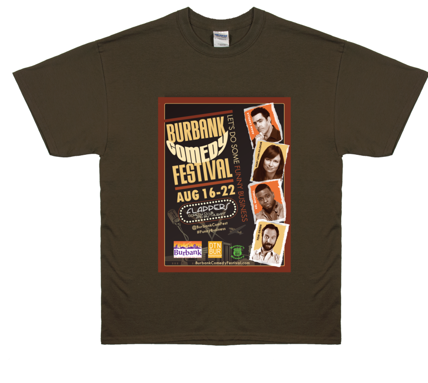 Burbank Comedy Festival 2015 Official T-Shirt