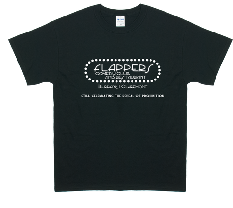 Flappers Comedy Club & Restaurant Logo T Shirt