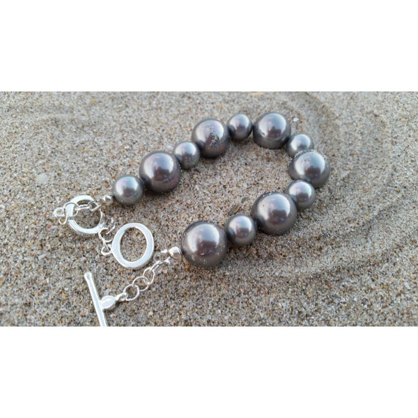 Grey South Sea Shell Pearl Bracelet