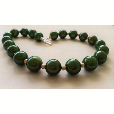 Emerald Green Miracle Bead Necklace