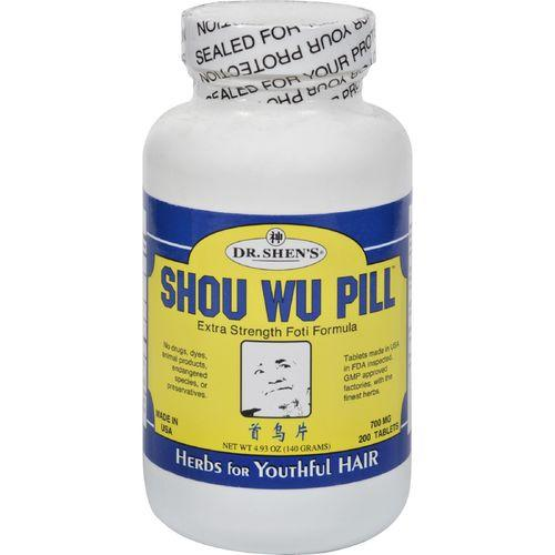 Dr. Shen's Shou Wu Youthful Hair Pill - 700 mg - 200 Tablets - Watchesfixx Hair, skin, and nails