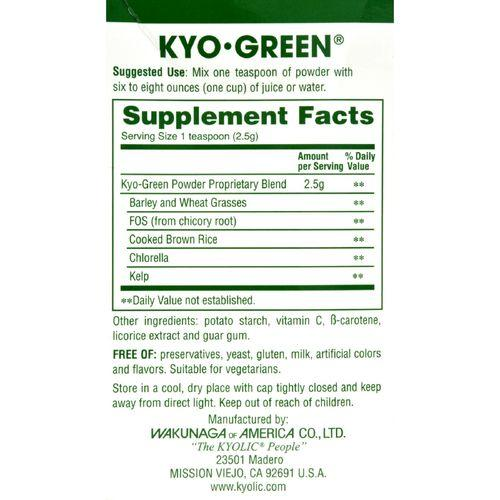 Kyolic Kyo-Green Energy Powdered Drink Mix - 5.3 oz - Watchesfixx Natural supplements