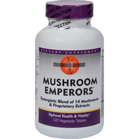 Mushroom Wisdom Mushroom Emperors - 120 Vtablets - Watchesfixx Natural supplements