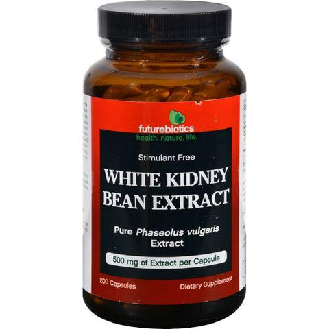 FutureBiotics White Kidney Bean Extract - 500 mg - 200 Capsules - Watchesfixx Single herb supplements