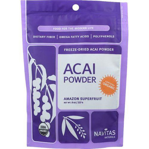 Navitas Naturals Acai Powder - Organic - Freeze-Dried - 8 oz - case of 12 - Watchesfixx Single herb supplements