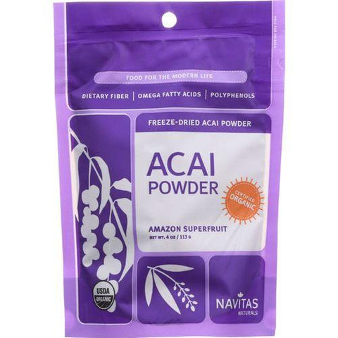 Navitas Naturals Acai Powder - Organic - Freeze-Dried - 4 oz - case of 12 - Watchesfixx Single herb supplements