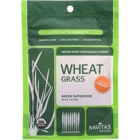 Navitas Naturals Wheat Grass Powder - Organic - 1 oz - case of 6 - Watchesfixx Single herb supplements
