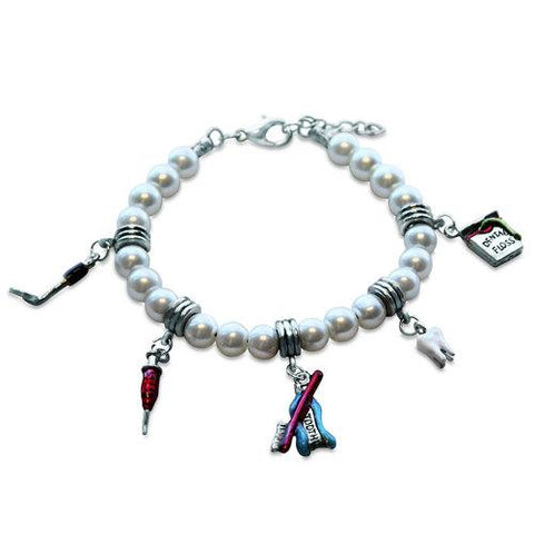 Dental Assistant Charm Bracelet in Silver - Watchesfixx Charm bracelets
