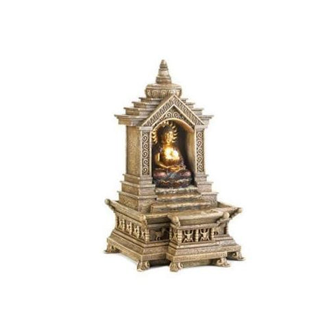 Golden Buddha Temple Fountain (pack of 1 EA) - Watchesfixx Indoor water fountains