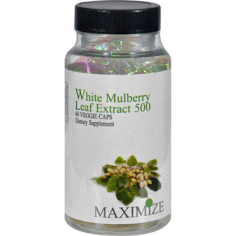 Maximum International White Mulberry Leaf Extract 500 - 60 Veg Capsules - Watchesfixx Single herb supplements