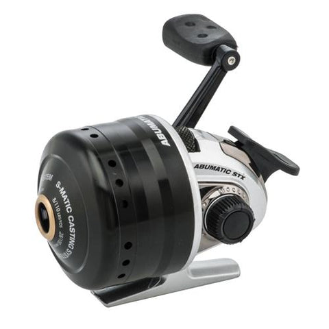 "Abumatic STX Spincast Reel 3.6:1 Gear Ratio, 4 Bearings, 23"" Retrieve Rate 8lb Max Drag, Ambidextrous, Clam - Watchesfixx Reels, spincast"