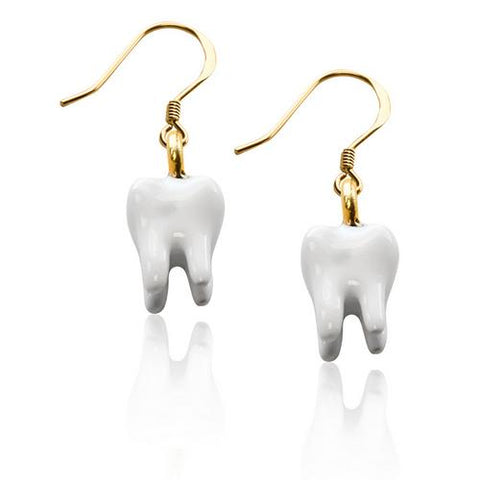 Tooth Charm Earrings in Gold - Watchesfixx Charm earrings