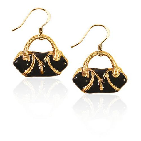 Flap Purse Charm Earrings in Gold - Watchesfixx Charm earrings