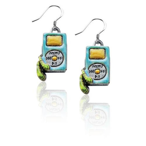 I-Pod Charm Earrings in Silver - Watchesfixx Charm earrings