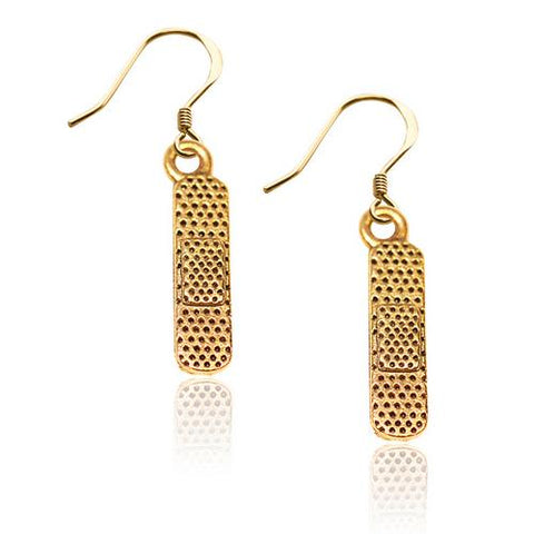 Band Aid Charm Earrings in Gold - Watchesfixx Charm earrings