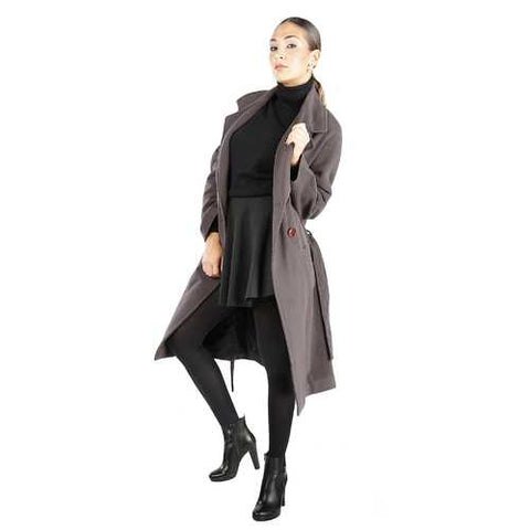Gender: Women<br />Color: Brown<br />fontana 2.0 coat<br />- 100% made in italy<br />- double-breasted wool coat<br />- 4 buttons<br />- 2 external pockets, coat belt<br />- composition:  100% wool<br />- do not wash - Watchesfixx Coats