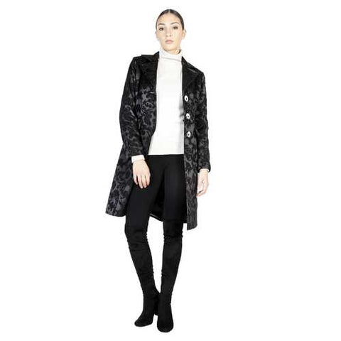 Gender: Women<br />Color: Black<br />coat<br />- 100% made in italy<br />- single-breasted coat<br />- 3 buttons<br />- 2 decorative external pockets<br />- composition:  55% wool 45% polyester<br />- do not wash to water - Watchesfixx Coats