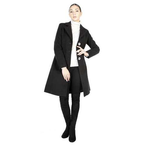 Gender: Women<br />Color: Black<br />coat<br />- 100% made in italy<br />- single-breasted coat<br />- 3 buttons<br />- 2 decorative external pockets<br />- composition:  70% wool 20% polyamide 10% cashmere<br />- do not wash to water - Watchesfixx Coats
