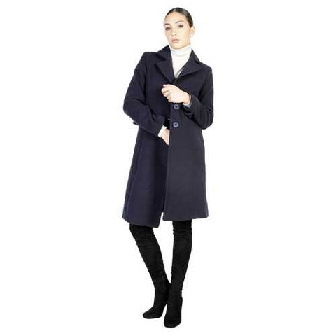 Gender: Women<br />Color: Blue<br />coat<br />- 100% made in italy<br />- single-breasted coat<br />- 3 buttons<br />- 2 decorative external pockets<br />- composition:  70% wool 20% polyamide 10% cashmere<br />- do not wash to water - Watchesfixx Coats