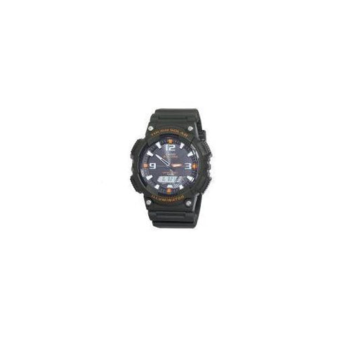 Mns Tough Solor Analog Sport Blk resin strap Black dial World time,, alarm Stopwatch - Watchesfixx Casio