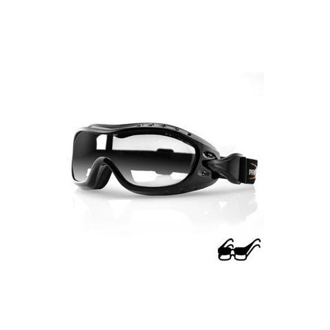 Night Hawk OTG Goggle, Black Frame, Anti-fog Clear Lens - Watchesfixx Night hawk