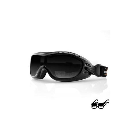 Night Hawk OTG Goggle, Black Frame, Anti-fog Smoked Lens - Watchesfixx Night hawk