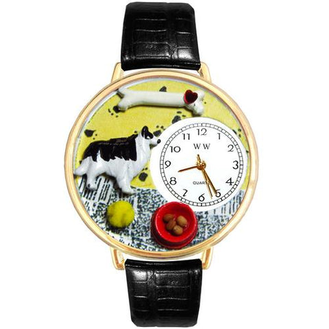 Border Collie Watch in Gold (Large) - Watchesfixx Ladies watches