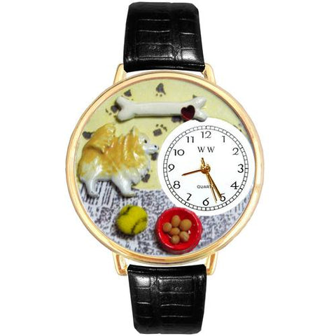 Pomeranian Watch in Gold (Large) - Watchesfixx Ladies watches