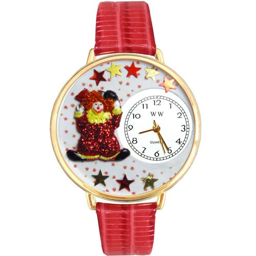 Red Star Clown Watch in Gold (Large) - Watchesfixx Ladies watches