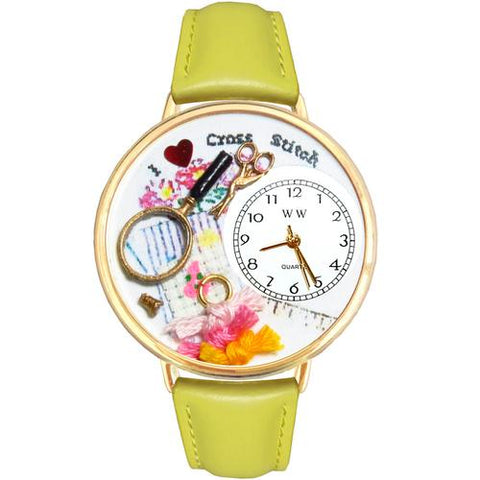 Cross Stitch Watch in Gold (Large) - Watchesfixx Ladies watches