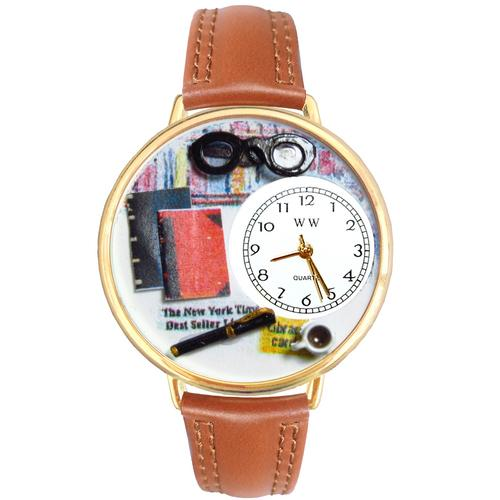 Book Lover Watch in Gold (Large) - Watchesfixx Ladies watches