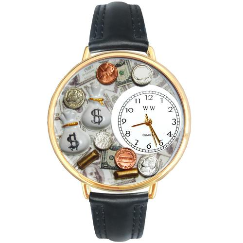 Banker Watch in Gold (Large) - Watchesfixx Ladies watches